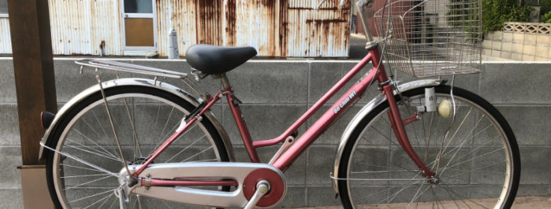 【中古車情報】26インチ 軽快車 ピンク 8,000円